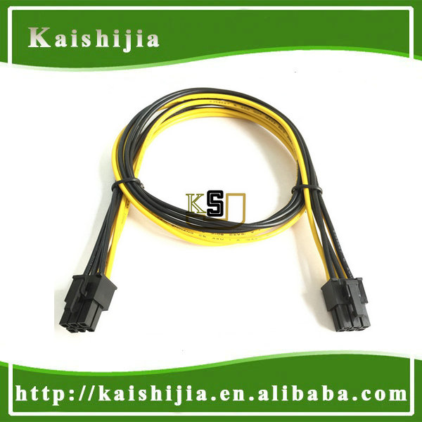 60cm 6 Pin PCI-E to 6Pin PCI-E Video Card Modular Power Supply Cable UL 1007 16AWG wire