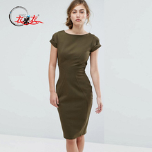 2018 Summer New Stylish Women Bodycon Short Sleeve Pencil Dress