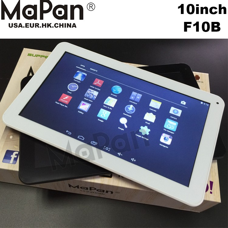 10inch Quad core 1024x600 Cheapest 10 inch Quad Core 1GB 8GB Tablets 10.1 Android 4.4 MaPan F10B