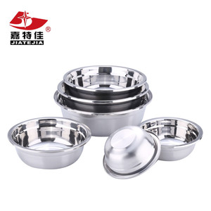 Chaozhou stainless steel multi-functional Korean style deep soup bowls/wash basin