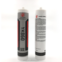 General Purpose anti mildew Fast curing speed silicone sealant with refillable cartridges nozzles