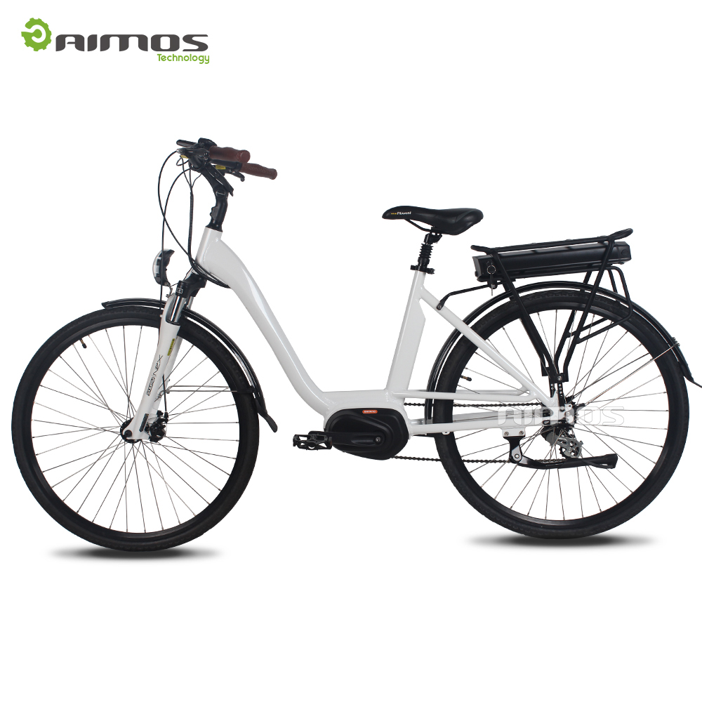 AIMOS OEM China electric city bike mid drive motor 700C electric city bike