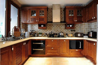 classical solid birch wood kitchen cabinet