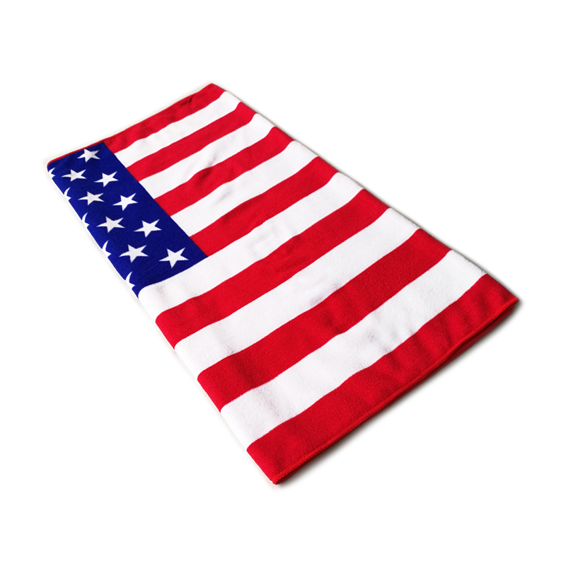 High Quality Sublimation Printing Hotel Shower Quick-Dry USA Flag Microfiber Beach <strong>Towel</strong> With Logo