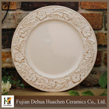China factory wholesale cheap plain white ceramic plate