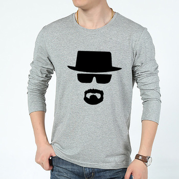 Wholesale custom design printed men grey long sleeve sweatshirt