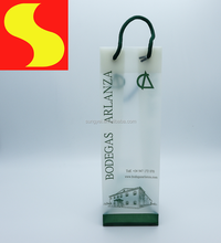 Biodegradable HDPE custom printed wine packaging shopping bag plastic