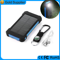 Dust-Proof and Shockproof 1000mAh Dual USB Port Portable Solar Battery Charger for iPhone