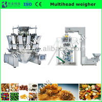 "NewElectronic Rustproof Automatic 10.4"" Touch Screen Combination Weigher of Packaging Machine For Sead Food weighing and filling"