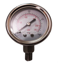 100% Inspection Dry Bourdon Tube Measuring Instruments Air Pressure Gauge