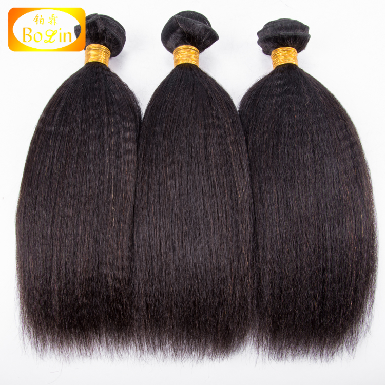 kinky straight hair virgin indian raw unprocessed yaki human hair <strong>weave</strong> for black women wholesale price