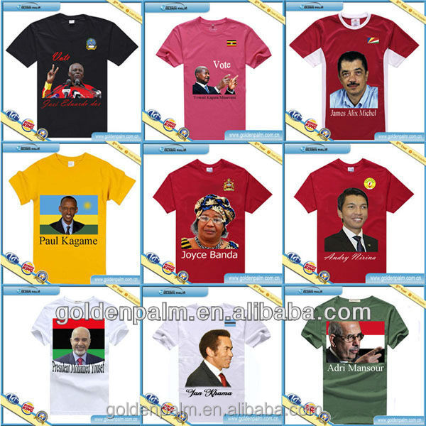 2014 custom t shirts/president campaign t shirt/election tees