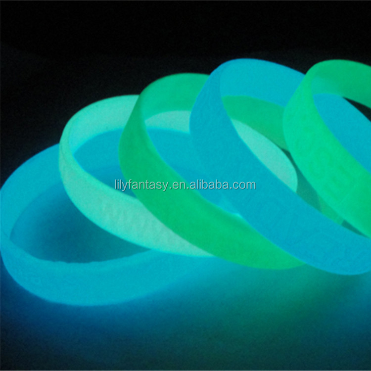 2014 Custom logo Silicone Wristband/Silicone Bracelet Glow In The Dark