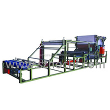 Cost-effective effective fleece vertical mesh belt coating machine