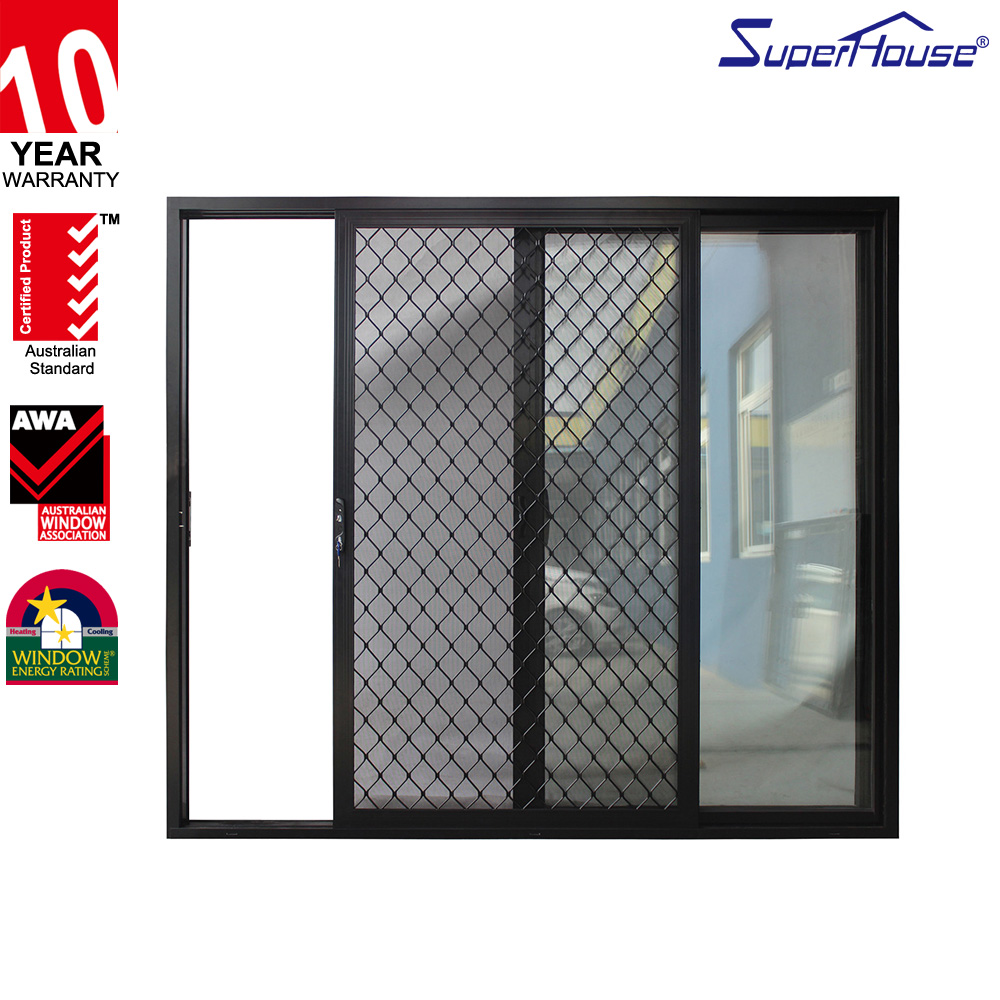 China supplier high quality pvc sliding door large sliding glass doors