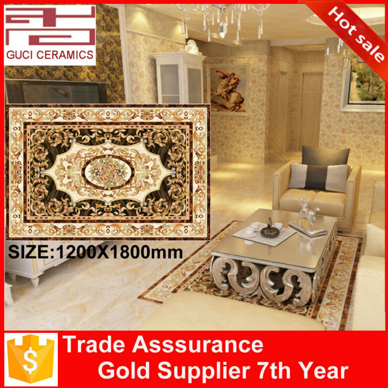1200x1800mm polished golden crystal porcelain floor carpet tiles