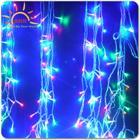 DC12V Voltage and Christmas Holiday Name snowfall dropping icicle light/Led Outdoor Curtain Icicle Drop Fairy Light