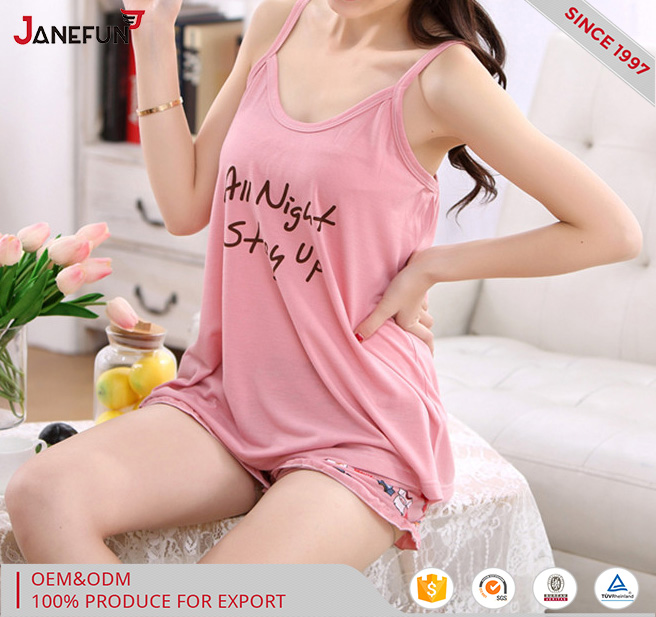 short sleeve wholesalec fashion sleepwear pajama ladies' home wear