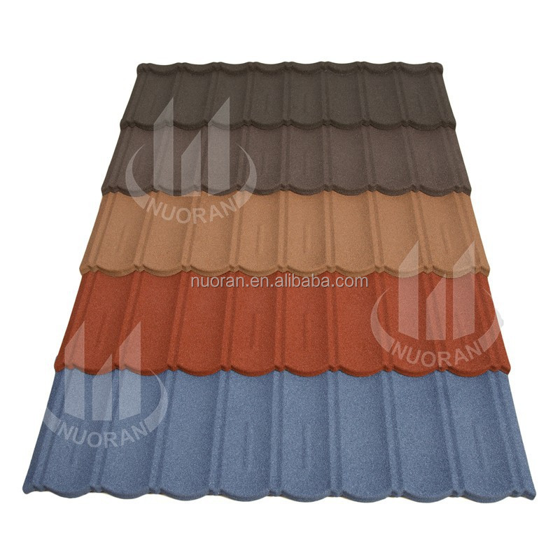 ecological deco terracotta metal wavy roof tile