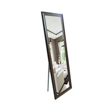 free standing crystal glass mirror brown framed mirror for Home Decoration