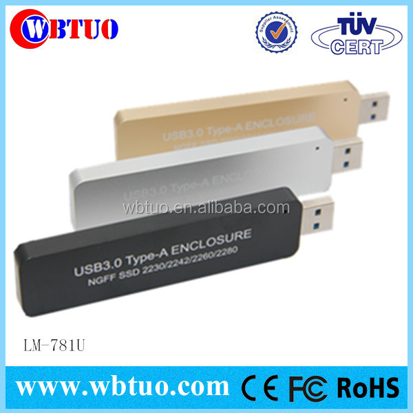 shop china electronics online usb3.0 type A ngff m.2 for 2230 2242 2260 2280 external disk hdd caddy