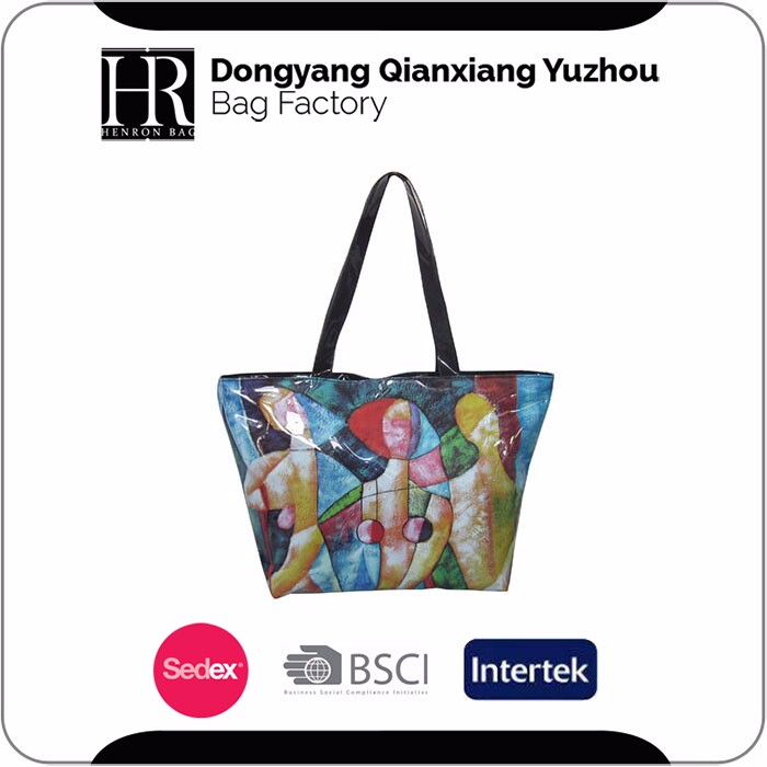 New Arrival Lady Handbag Customized PVC Tote Bag