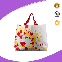 600D Nylon white shopping bags ,high quality tote shopping bags with silk screen