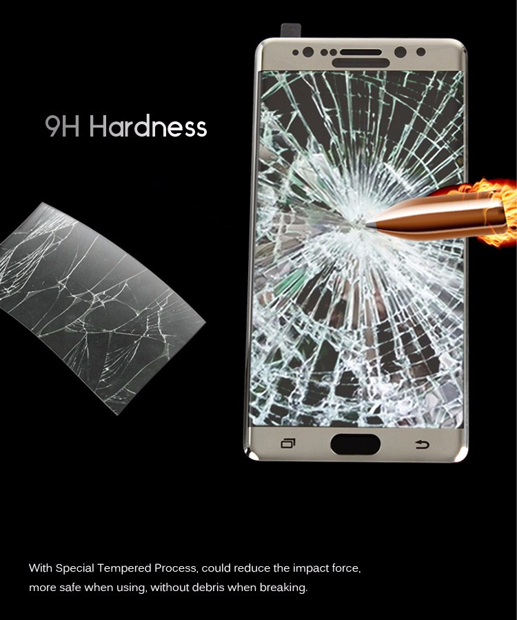 High Quality! 3D Real Curved Tempered Glass Screen Protector for Samsung Galaxy Note 7