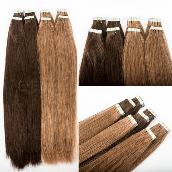 22 inch 40 pieces Tape In 3m Indian Remy Human Hair Skin Weft Double Sided Tape in Hair Extensions
