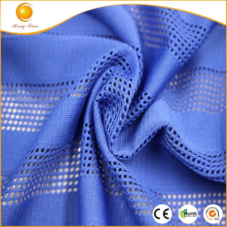 New garment, blue stripe football jersey fabric made in China