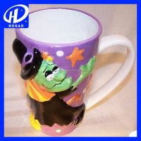 Wholesale Halloween Print Witch Mug Cup Ceramic