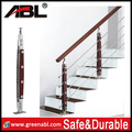 ABL 304 stainless steel balustrade in Balustrades&Handrails 304 stainless steel fancy wooden stair railing