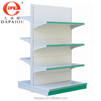 Double-side 4 layers supermarket shelf