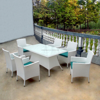 Wicker set dining furniture outdoor