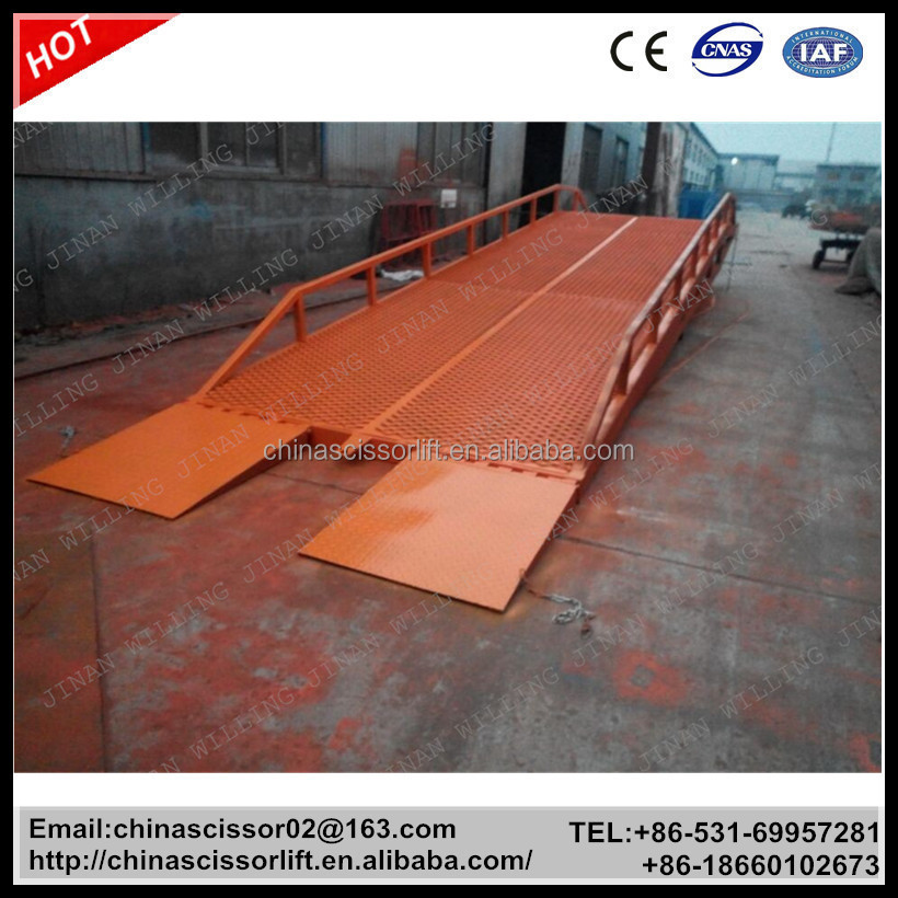 Manual mobile dock leveler/container loading equipment