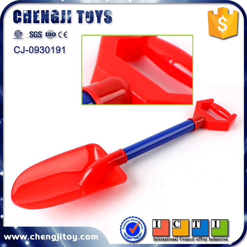Colourful kids outdoor game plastic solid sand shovel