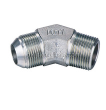 45 degree elbow male threaded JIC to BSPT 37 degree flared JIC tube fittings