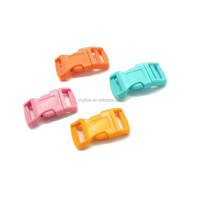 high quality plastic 1/2'' curved paracord buckles for pet accessories wholesale