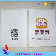 Cheap price grease proofing pie packaging paper bag/custom printing bread packaging bag