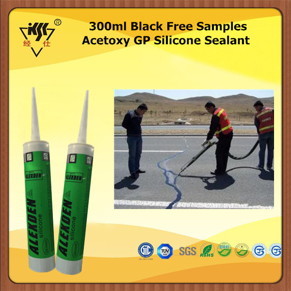 300ml Black Free Samples Acetoxy GP Silicone Sealant