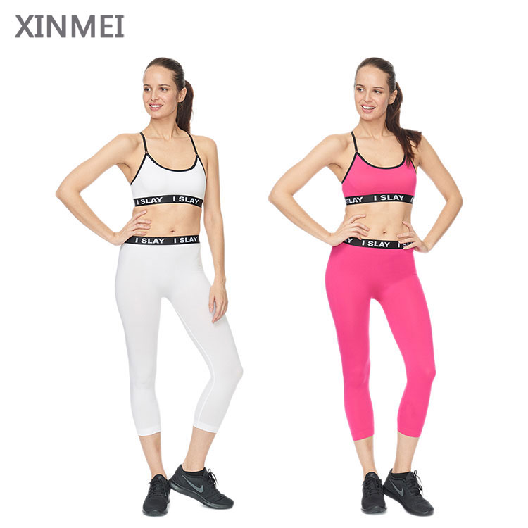 Chinese wholesale good price active wear customized ladies sexy sport wear with sports bra