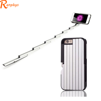 Ranphys Made In China Remote Control Bluetooth 4.7 Inches Foldable Selfie Stick +Phone Case