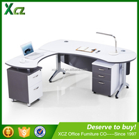 Best price new design l-shape manager office table with cabinet