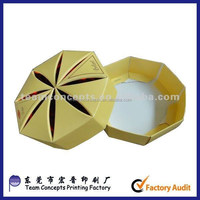 High end octagon paper packaging box for food