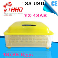2016 Hot sale full automatic machine chicken egg incubator used for 48 eggs YZ-48AB