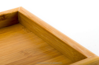 High quality Bamboo wood tray / bamboo Food Serving bed table Tray