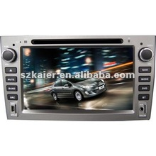 "7"" Car navigation and entertainment system for Peugeot 408 with 8CD,BT,IPOD,TV and IPHONE menu"