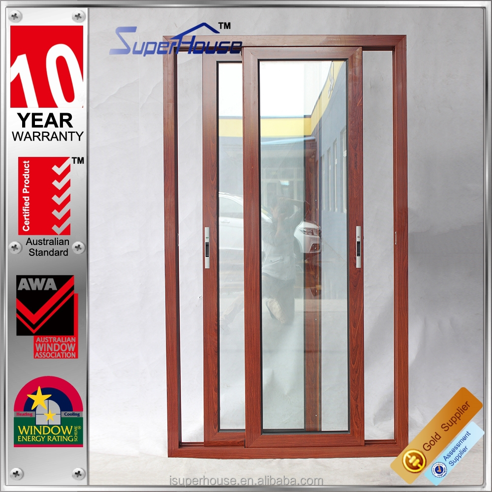 Australia standard AS2047 wood frame color double pane insulated sliding glass door prices