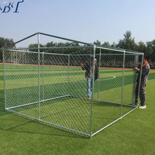 Cheap large chain link dog kennel/outdoor dog run fence (factory)