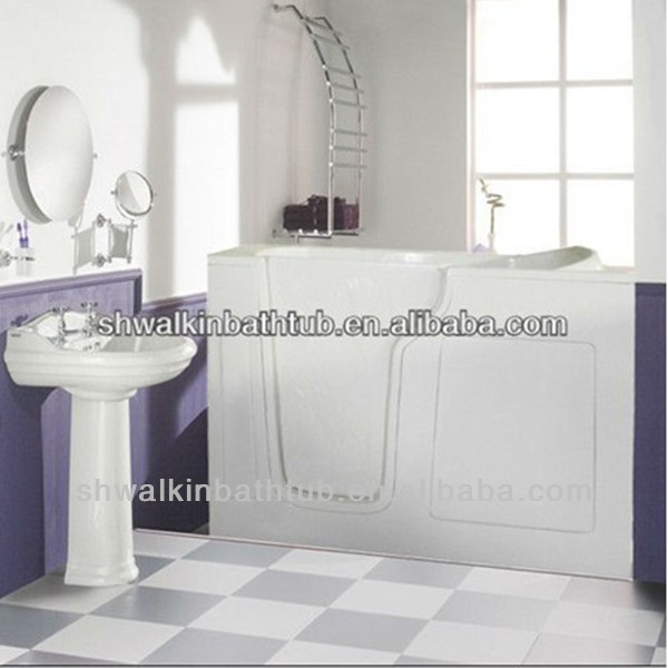 Fiber glass massage bathtub with seat bathtub for elderly CWB3053